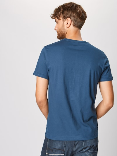 Iriedaily T-Shirt 'Daily Flag' en bleu / blanc: Vue de dos