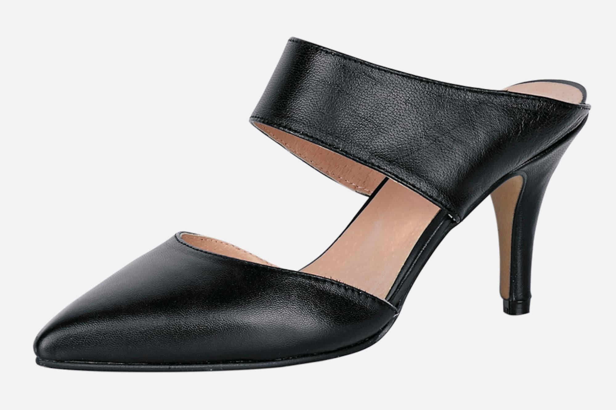 heine high heels 39 sabot 39 in schwarz about you. Black Bedroom Furniture Sets. Home Design Ideas