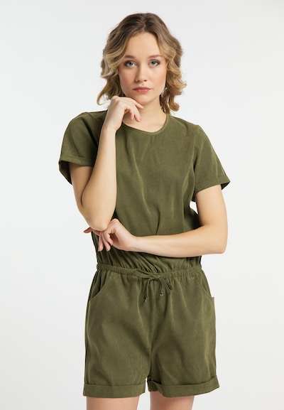 DREIMASTER Overal - olivová, Model/-ka