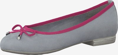 MARCO TOZZI Ballerina in grau / pink, Produktansicht