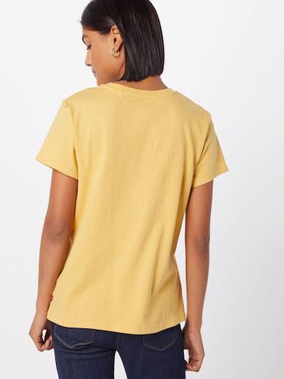 LEVI'S Shirt 'The Perfect Tee Large Batwing' in de kleur Geel / Wit: Achteraanzicht