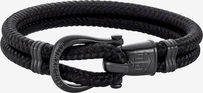 Paul Hewitt Armband 'Phinity' in dunkelgrau / schwarz, Produktansicht