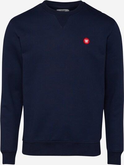 WOOD WOOD Sweatshirt in navy / feuerrot, Produktansicht