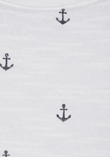 BEACH TIME Shirt in Marine / White, Item view