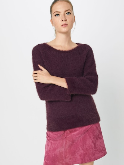 MORE & MORE Pullover 'Pullover 1/1 Arm' in beere, Modelansicht