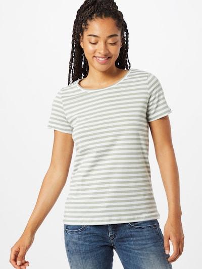 VILA Shirt 'VISUS' in de kleur Olijfgroen / Wit: Vooraanzicht