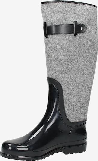 SANSIBAR Regenlaarzen in de kleur Grijs gemêleerd / Zwart, Productweergave