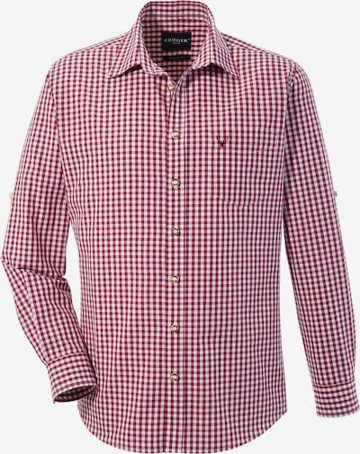 Krüger Buam Trachtenhemd in weinrot / weiß, Produktansicht