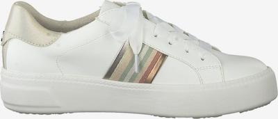 TAMARIS Sneakers laag in de kleur Gemengde kleuren / Wit: Achteraanzicht