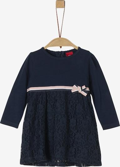 s.Oliver Junior Kleid in nachtblau / puder, Produktansicht