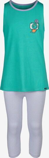 Skiny Pyjama Cosy Night Sleep mit 3/4-Bein in blau / grün, Produktansicht