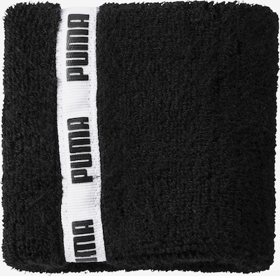 PUMA Zweetband 'Essential' in de kleur Zwart / Wit, Productweergave