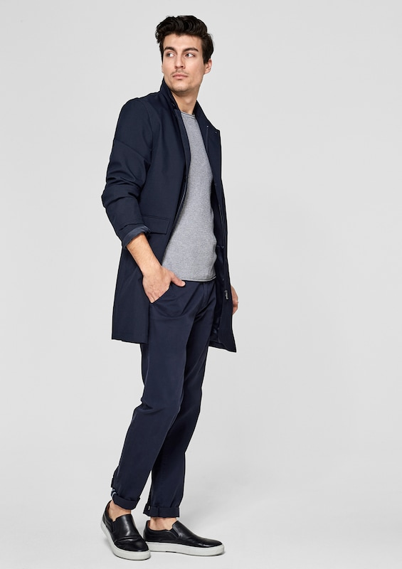 s.Oliver BLACK LABEL Comfort Fit: Kurzmantel mit Stehkragen