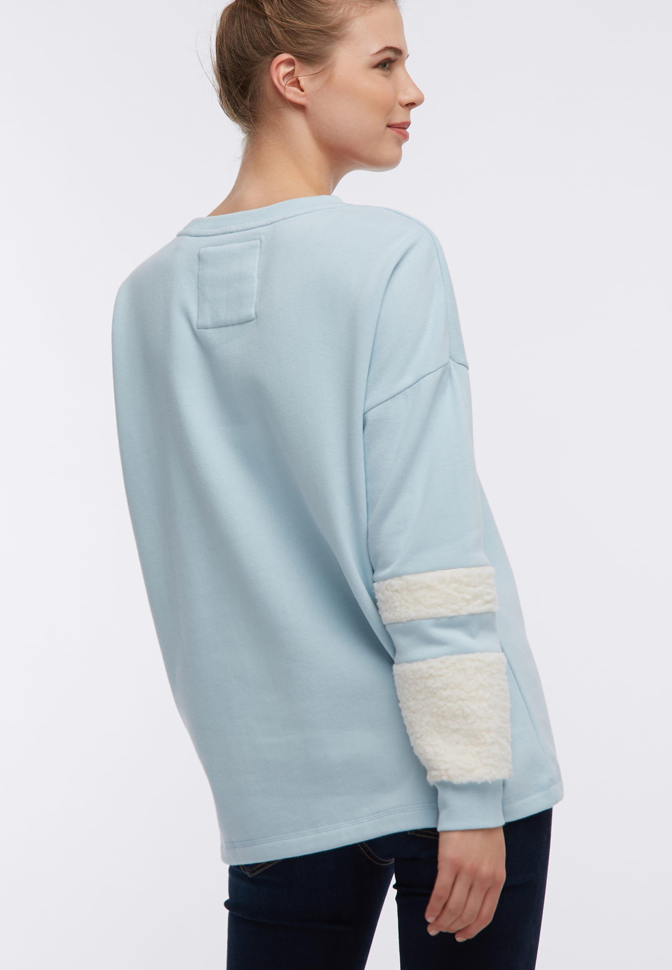 Sweat shirt En Dreimaster Bleu ClairBlanc OP8w0nk