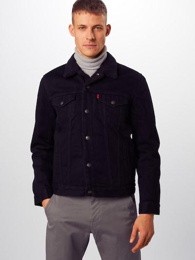 LEVI'S Tussenjas 'TYPE 3 SHERPA TRUCKER' in de kleur Black denim: Vooraanzicht