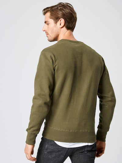 Bluză de molton ELLESSE pe verde / kaki / portocaliu / alb: Privire spate