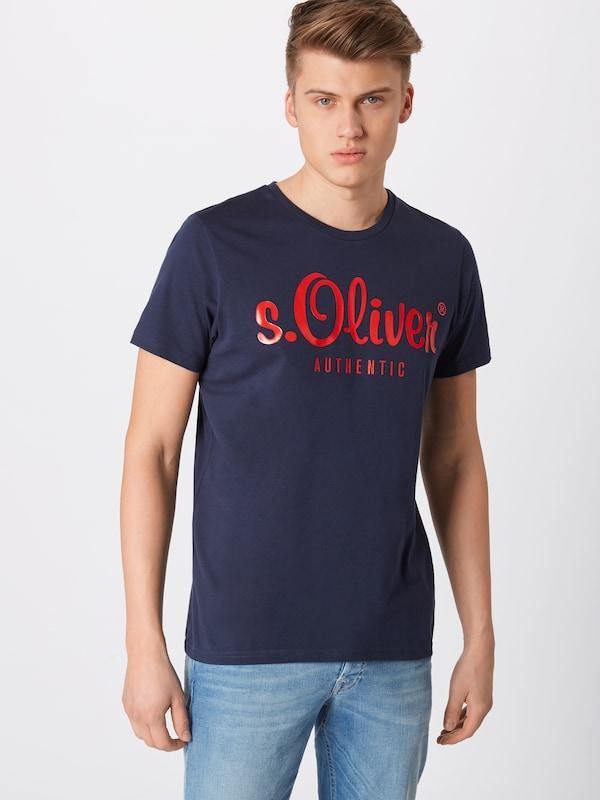 S shirt Red En oliver Label Bleu NuitRouille T 0OnyN8Pmvw