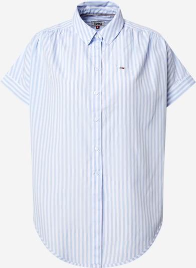 Tommy Jeans Bluse in pastellblau / weiß, Produktansicht