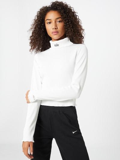 Nike Sportswear Sweter w kolorze czarny / białym, Podgląd na modelu(-ce)
