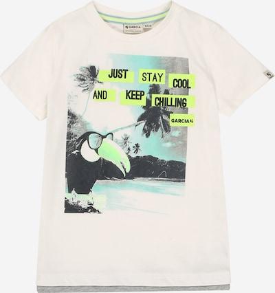 GARCIA T-Shirt in aqua / graphit / kiwi / weiß, Produktansicht