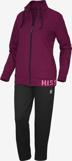 H.I.S Sweatsuit in Berry, Item view