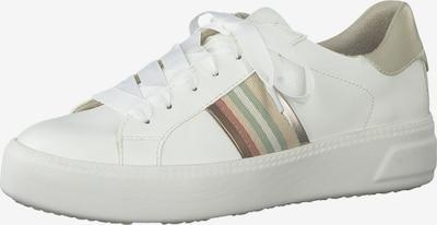 TAMARIS Sneakers laag in de kleur Gemengde kleuren / Wit: Vooraanzicht