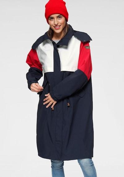 ICEPEAK Regenmantel 'Algoma' in marine / rot / weiß, Modelansicht