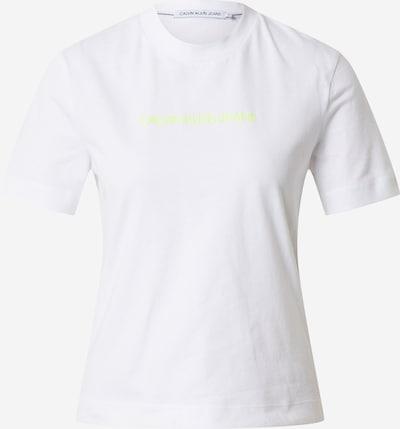 Calvin Klein Jeans Shirt 'SHRUNKEN INSTITUTIONAL GMD TEE' in weiß, Produktansicht