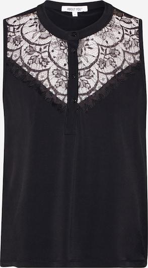 ABOUT YOU Bluza 'Tanisha' u crna: Prednji pogled