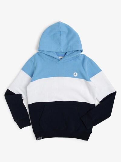 Jonas Nielsen Hoodie in blau / weiß, Produktansicht