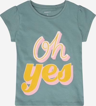 NAME IT T-Shirt in gelb / petrol / hellpink, Produktansicht