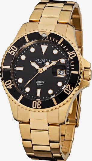 REGENT Uhr in gold / schwarz, Produktansicht