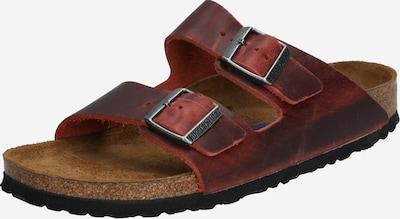 BIRKENSTOCK Pantolette 'Arizona Oiled Leather' in dunkelbraun, Produktansicht