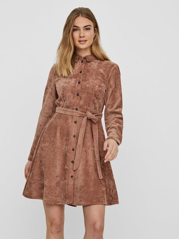 vero moda kleid in braun | about you