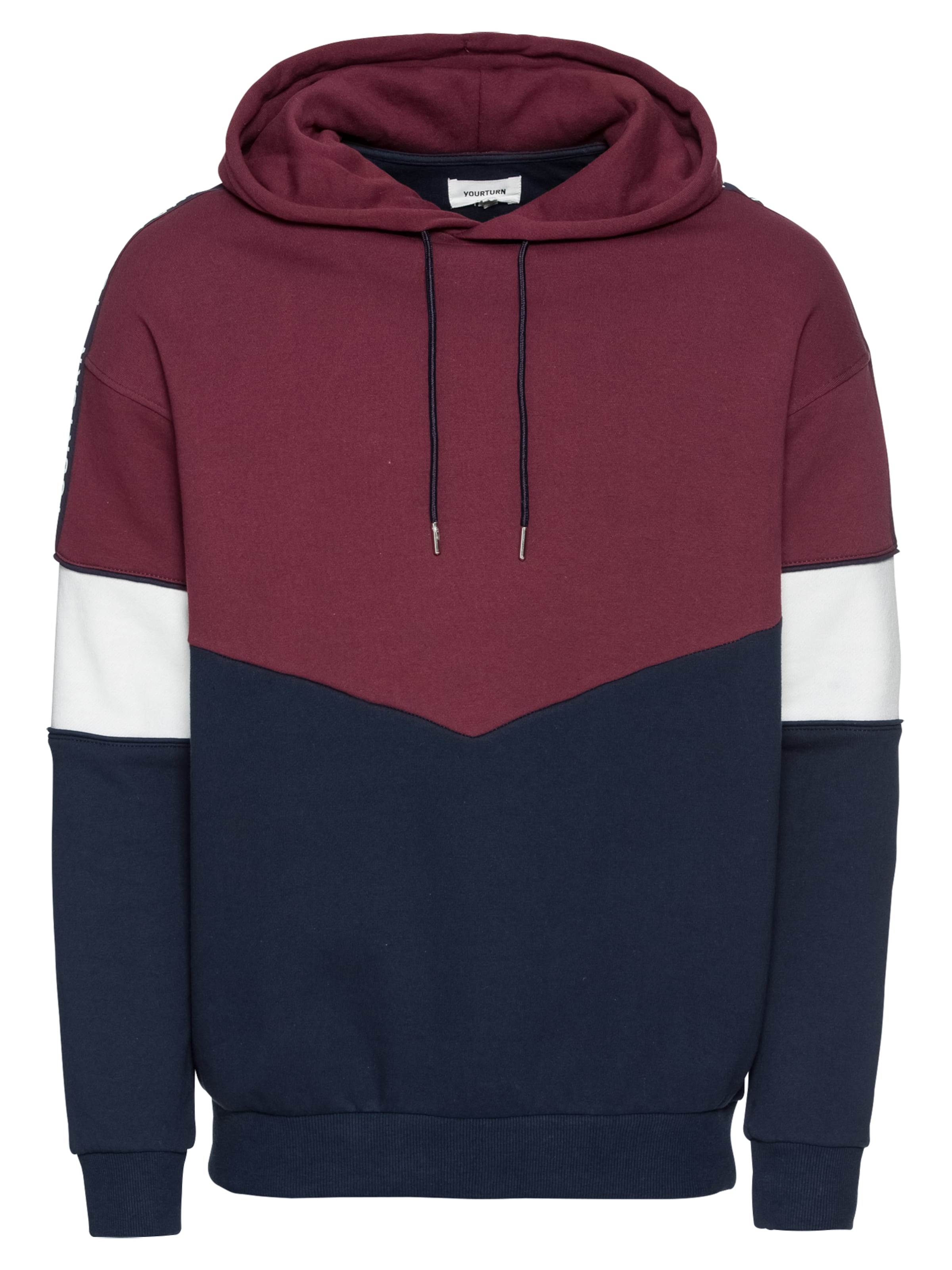 Sweatshirt In Wit Yourturn DonkerblauwRood 54jLq3AR