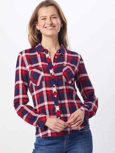 Hailys Chemisier 'Gemma' en rouge / noir, Vue avec modèle