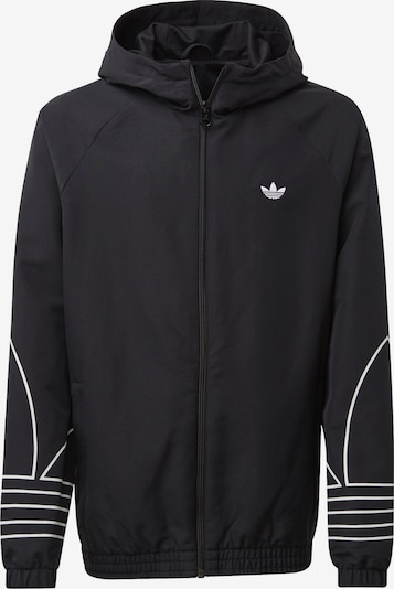 ADIDAS ORIGINALS Windbreaker 'Outline' in schwarz / weiß, Produktansicht