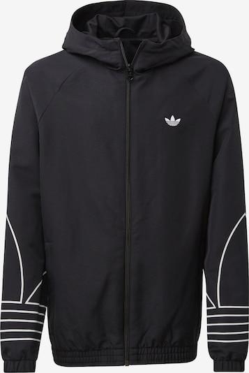 ADIDAS ORIGINALS Tussenjas 'Outline' in de kleur Zwart / Wit, Productweergave