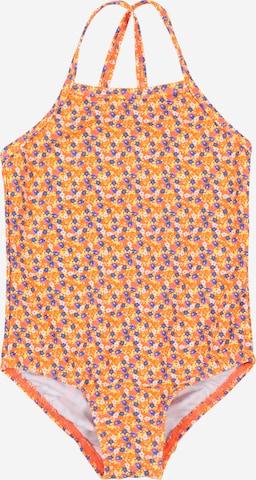 NAME IT Badeanzug 'Zummers' in Orange