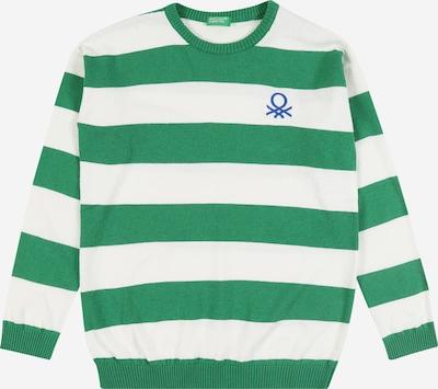 UNITED COLORS OF BENETTON Pullover in grün / weiß, Produktansicht