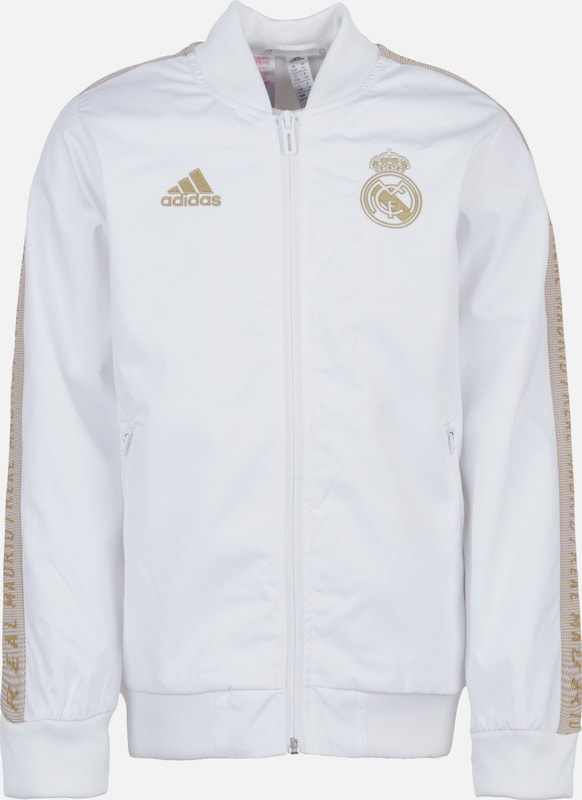 ADIDAS PERFORMANCE Jacke 'Real Madrid Anthem' in gold / weiß, Produktansicht