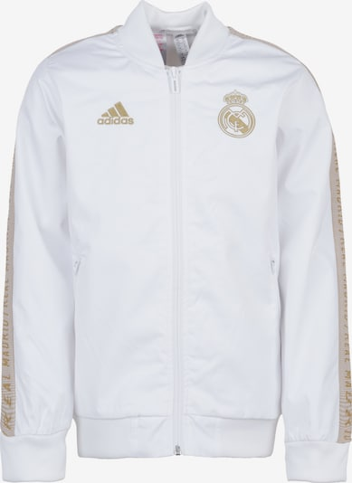 ADIDAS PERFORMANCE Jacke 'Real Madrid Anthem' in gold / weiß: Frontalansicht