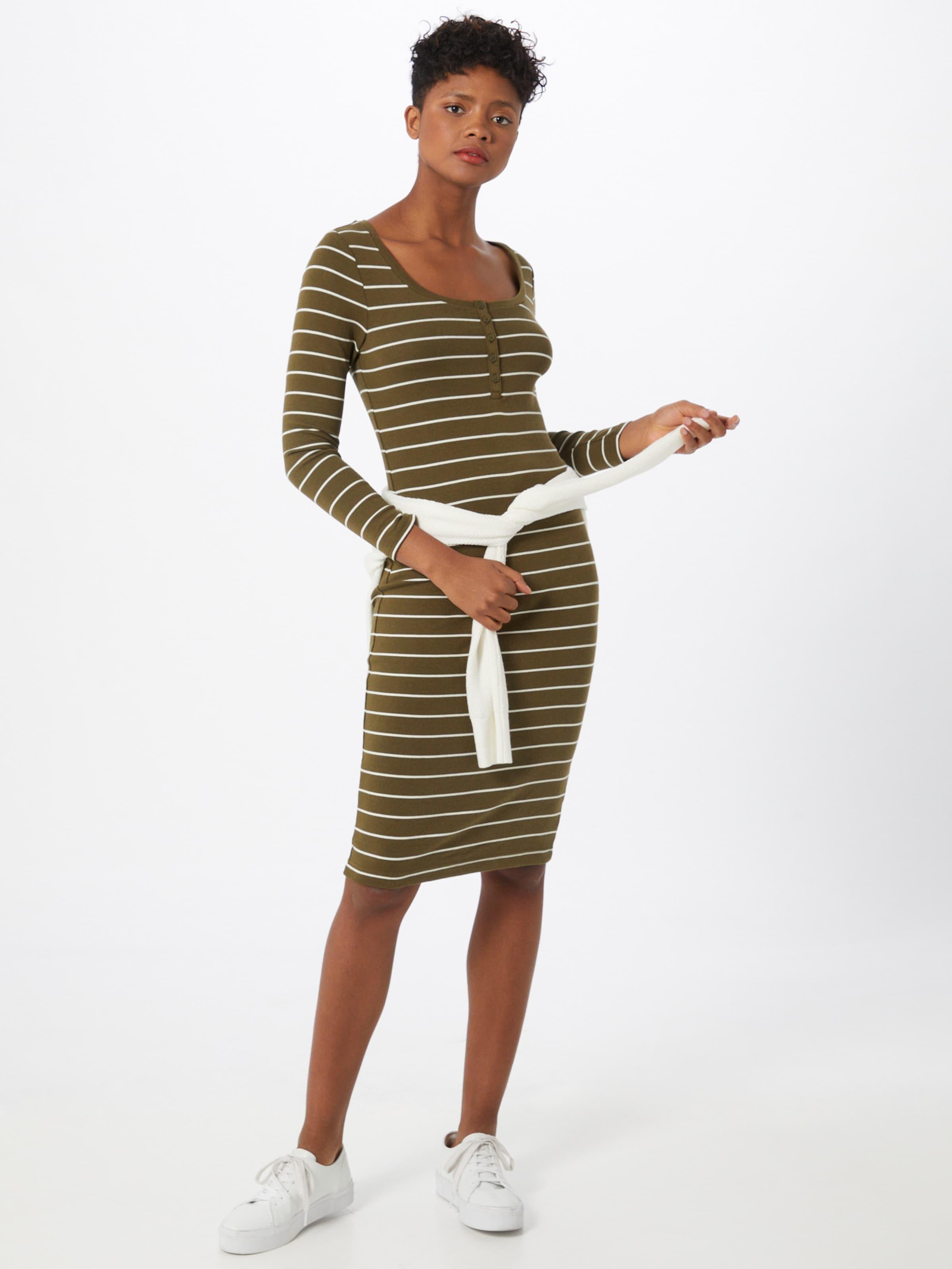 GAP Kleid in oliv / weiß