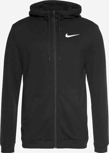Bluză cu fermoar sport NIKE pe negru, Vizualizare produs