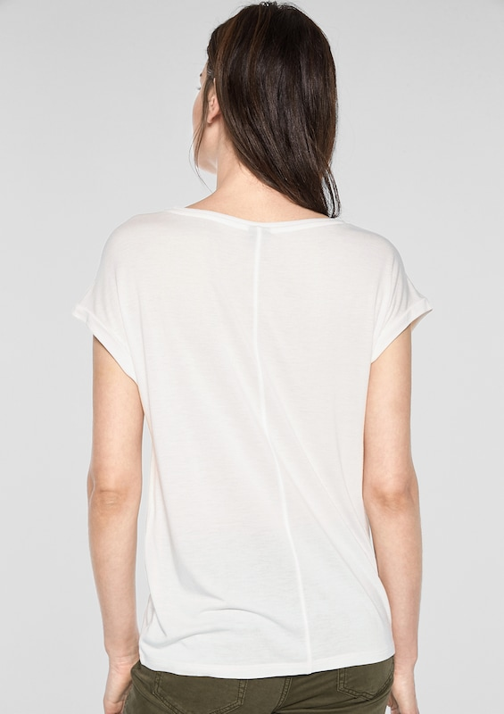 S.Oliver S.Oliver S.Oliver schwarz LABEL Shirt in mischfarben   weiß  Großer Rabatt fabd5c