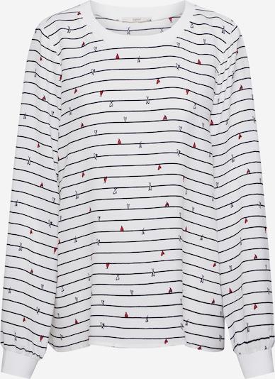 ESPRIT Bluse in schwarz / offwhite, Produktansicht