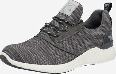 MUSTANG Sneaker in dunkelgrau / weiß, Produktansicht
