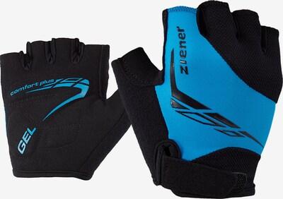 ZIENER Fahrradhandschuhe 'Canizo' in himmelblau / schwarz, Produktansicht