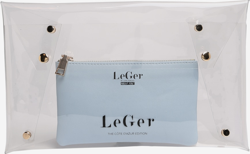 LeGer by Lena Gercke Clutch 'Elaine' in petrol / transparent, Produktansicht