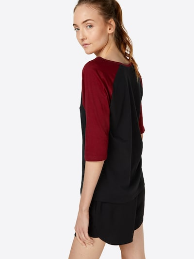 Urban Classics Shirt in rot / schwarz: Rückansicht